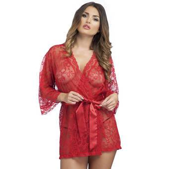 Lovehoney Flaunt Me Red Lace Robe