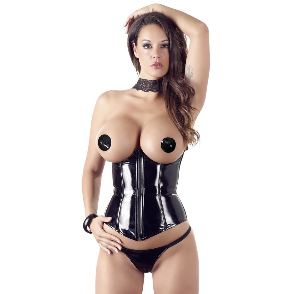 Black Level PVC Underbust corset.