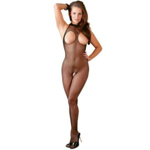 open crotch and open cup see through bodystocking