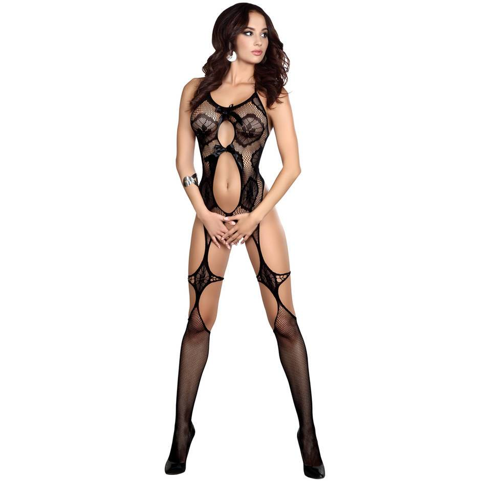 Fishnet and Lace Bodystocking