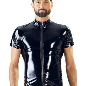 Black Level PVC Zip Front Shirt