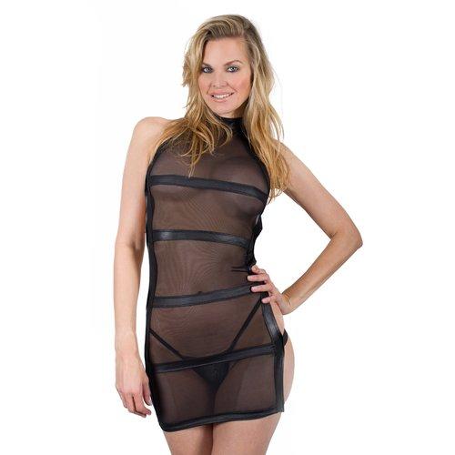 Bondara Siren Sheer Strappy Back Dress