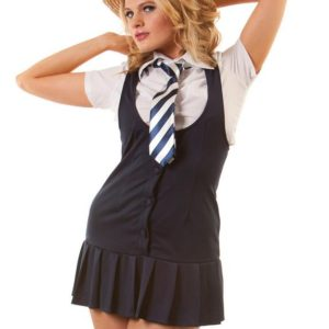Classfied Adult Pinafore and Boater Costume