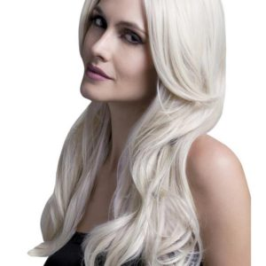 Fever Long Blonde Wavy Wig with Centre Parting