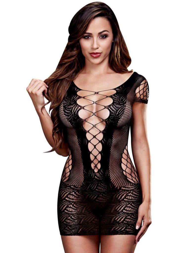 see through mesh dress