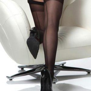 Coquette Black Sheer Back-Seam Stockings