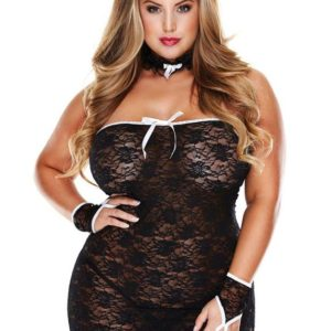 Baci Lingerie Plus Size Room Service French Maid Set