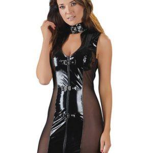 Black Level PVC and Mesh Mini Dress