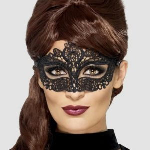 Fever Black Masquerade Lace Mask
