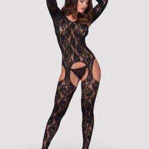 Lovehoney Long Sleeve Lace Suspender Bodystocking