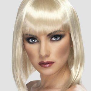 Short Blonde Wig with Fringe