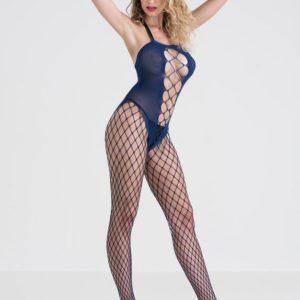 Lovehoney Blue Fishnet Crotchless Bodystocking