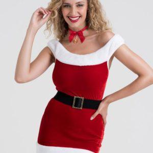 Lovehoney Santa Baby Red Bodycon Mini Dress